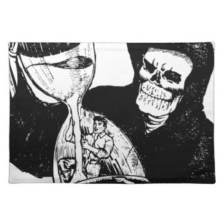 Grim Reaper and Man Placemat