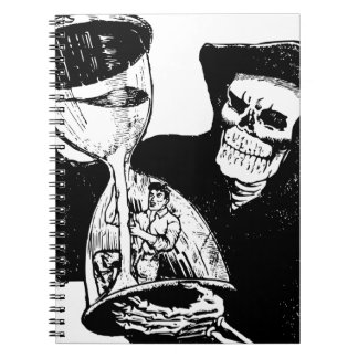 Grim Reaper and Man Spiral Notebook