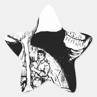Grim Reaper and Man Star Sticker