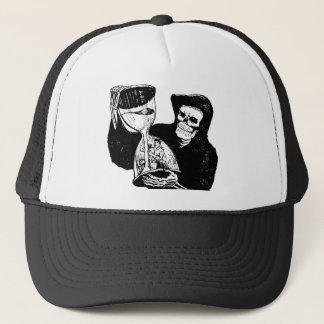 Grim Reaper and Man Trucker Hat