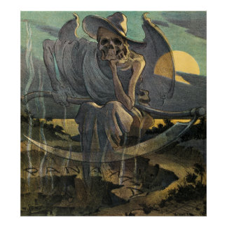 Grim Reaper Awaits with Scythe Poster