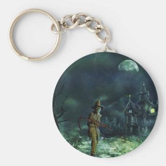 Grim Reaper Basic Round Button Keychain