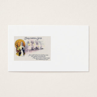 Grim Reaper Black Cat Lantern Full Moon Business Card