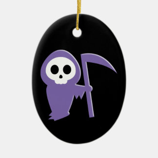 Grim Reaper Ceramic Ornament