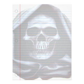 Grim Reaper Goth Notebook Paper