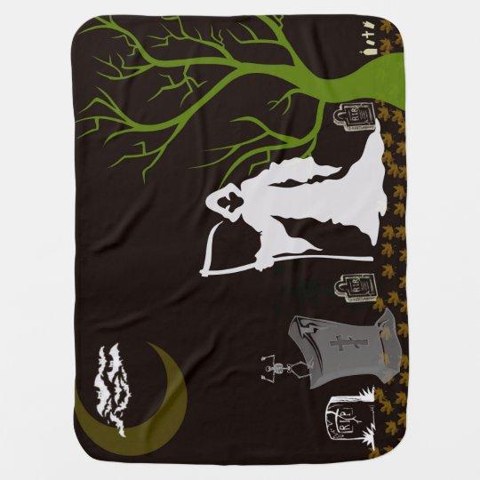 Grim Reaper Graveyard Baby Blanket