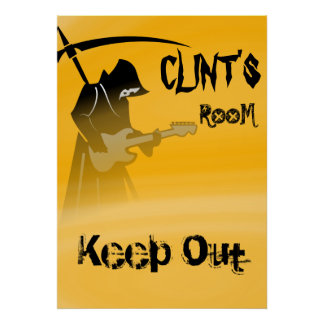 Grim Reaper Keep Out Sign Poster