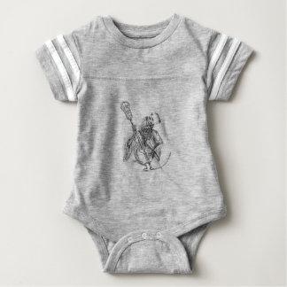 Grim Reaper Lacrosse Defense Pole Tattoo Baby Bodysuit