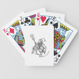 Grim Reaper Lacrosse Defense Pole Tattoo Bicycle Playing Cards