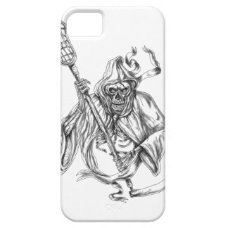 Grim Reaper Lacrosse Defense Pole Tattoo Case For The iPhone 5