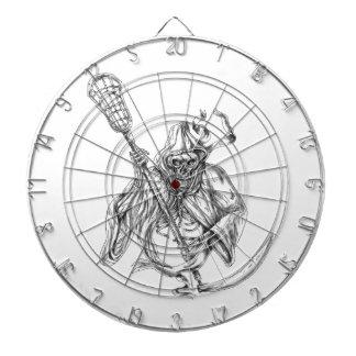 Grim Reaper Lacrosse Defense Pole Tattoo Dartboard