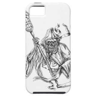 Grim Reaper Lacrosse Defense Pole Tattoo iPhone 5 Cover