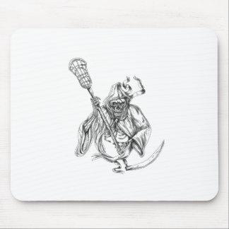 Grim Reaper Lacrosse Defense Pole Tattoo Mouse Pad