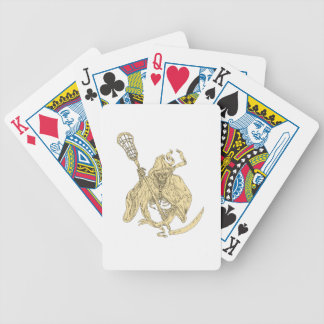 Grim Reaper Lacrosse Stick Drawing Bicycle Playing Cards