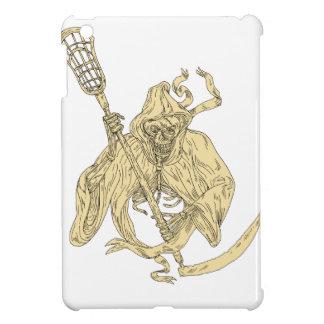 Grim Reaper Lacrosse Stick Drawing iPad Mini Cases