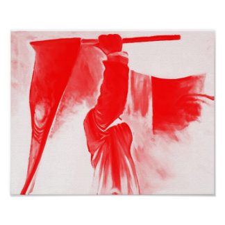 Grim Reaper of Death, Red Tinted Poster
