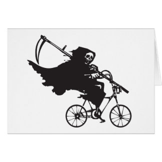 Grim Reaper on a Bicycle Card