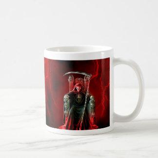 Grim Reaper On His Throne Coffee Mug