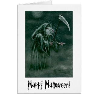 Grim Reaper Rat, Happy Halloween! Note Card