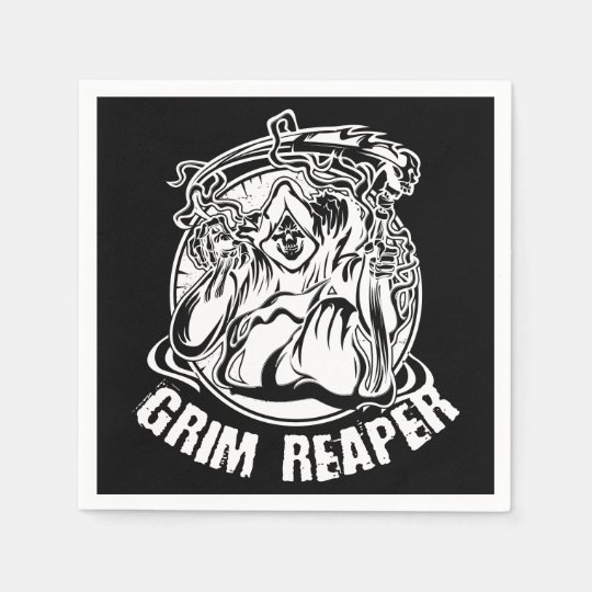 Grim Reaper Scary Halloween Disposable Napkin