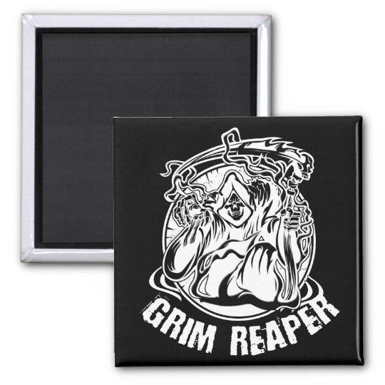 Grim Reaper Scary Halloween Magnet