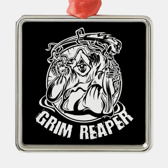 Grim Reaper Scary Halloween Metal Ornament