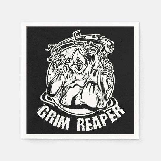 Grim Reaper Scary Halloween Napkin