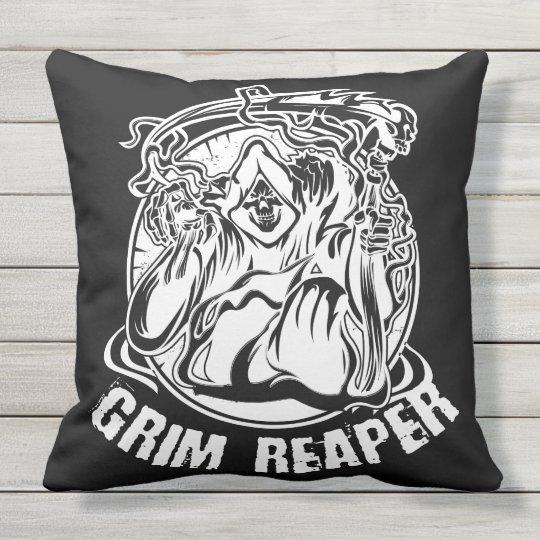 Grim Reaper Scary Halloween Outdoor Pillow
