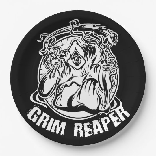 Grim Reaper Scary Halloween Paper Plate
