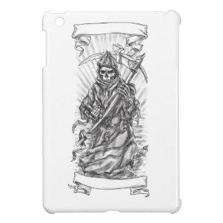 Grim Reaper Scythe Ribbon Tattoo iPad Mini Cover