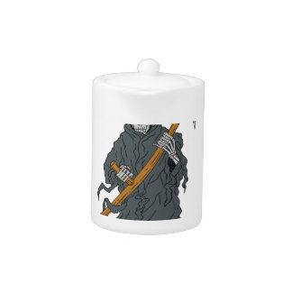 Grim Reaper Scythe Scroll Drawing