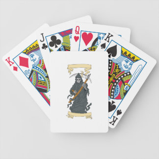 Grim Reaper Scythe Scroll Drawing Bicycle Playing Cards