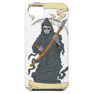 Grim Reaper Scythe Scroll Drawing iPhone 5 Covers