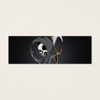 Grim Reaper Toon Mini Business Card
