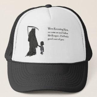 grim-reaper trucker hat