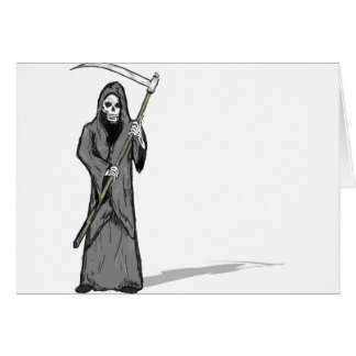 Grim Reaper Vector Sketch Card