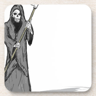 Grim Reaper Vector Sketch Coaster