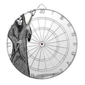 Grim Reaper Vector Sketch Dartboard