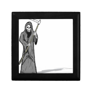 Grim Reaper Vector Sketch Gift Box