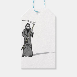 Grim Reaper Vector Sketch Gift Tags
