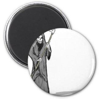 Grim Reaper Vector Sketch Magnet