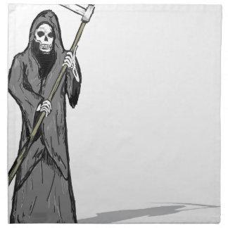 Grim Reaper Vector Sketch Napkin