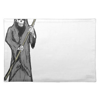 Grim Reaper Vector Sketch Place Mat