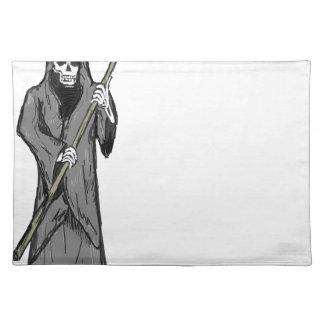 Grim Reaper Vector Sketch Placemat