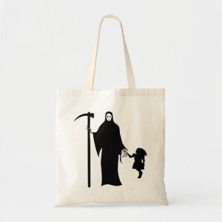 Grim reaper with child Tote Bag