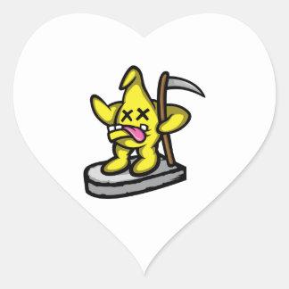 Grim Star Heart Sticker