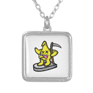 Grim Star Silver Plated Necklace