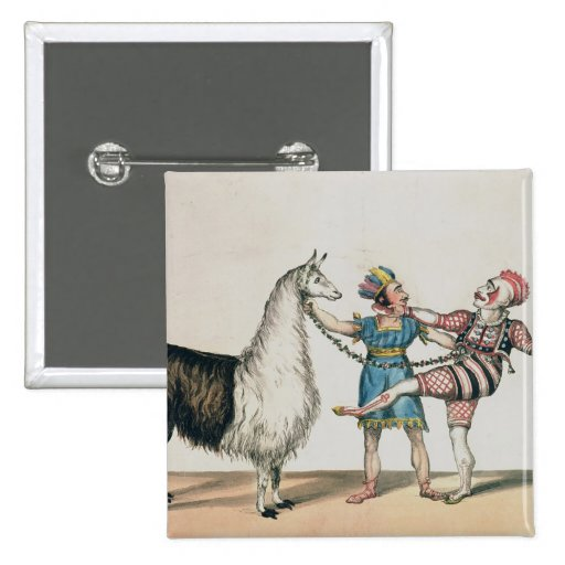 Grimaldi and the Alpaca, in the Popular Pantomime Pin