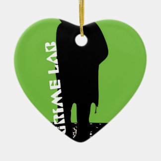 Grime Lab walker Ceramic Heart Ornament