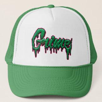 Grime text trucker hat